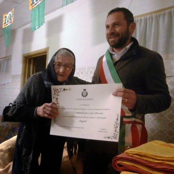 notizie lucane, basilicata news: Cancellara festeggia la sesta centenaria: Rienzi C...