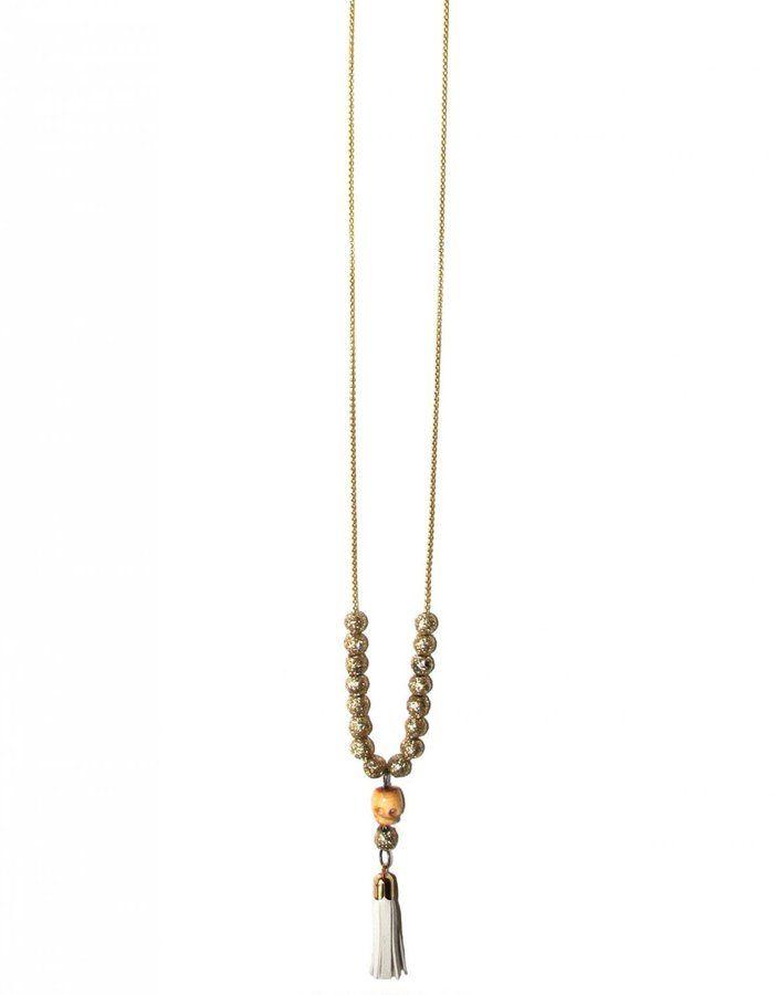 Sage et Sauvage Long necklace - Mora - White
