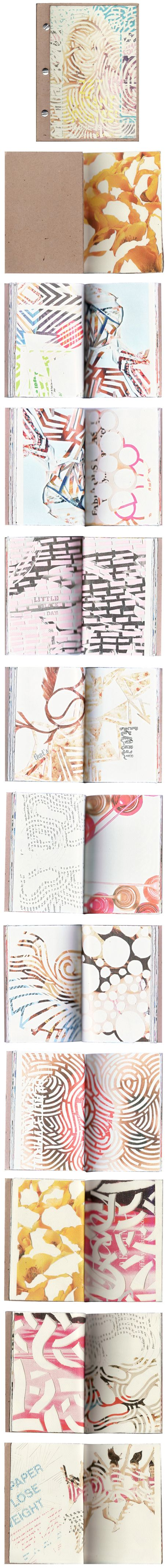 paper cut out pics - great art journaling project