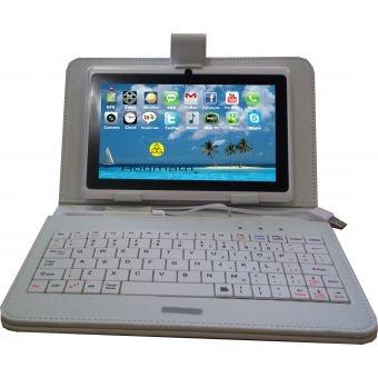 KIT de Tablet Rodmath UltraSlim 7'' con funda y teclado - Blanco. Descubre más en promociones desde nuestra página.