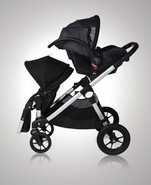 Double stroller w/ infant carrier
