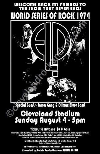 Emerson Lake Palmer / James Gang 1974 by ClevelandRockAndRoll