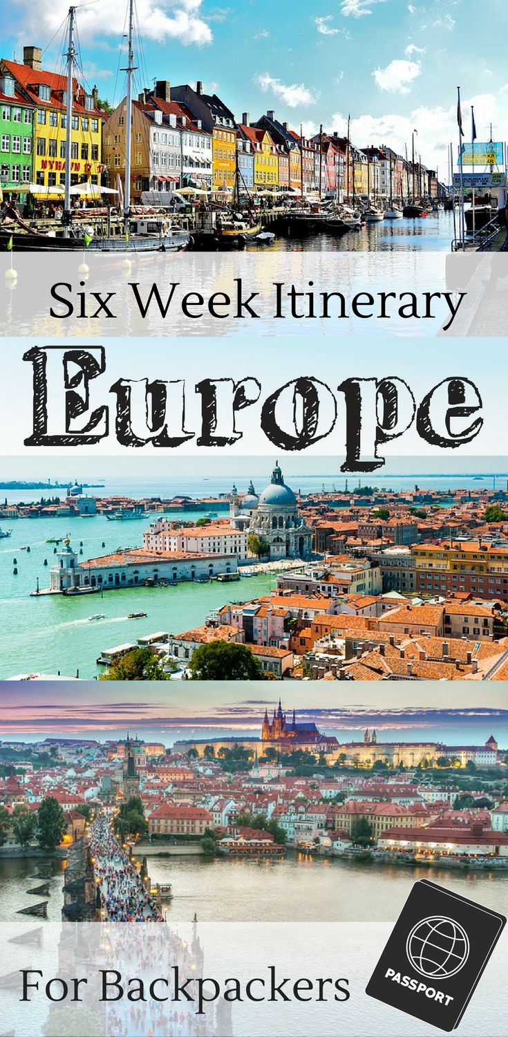 Backpacking through Europe. A European backpacking itinerary for 6 weeks. | Six weeks for Paris, London, Venice, Prague, Munich, Dublin, Galway, Vienna, and Edinburgh.   Europe travel | Backpacking Europe | backpacking in Europe | backpacking across Europe | cheap travel Europe #Europe #EuropeTravel #backpacking
