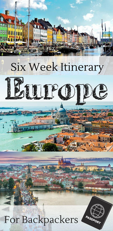 A European backpacking itinerary for 6 weeks.   Six weeks for Paris, London, Venice, Prague, Munich, Dublin, Galway, Vienna, and Edinburgh.