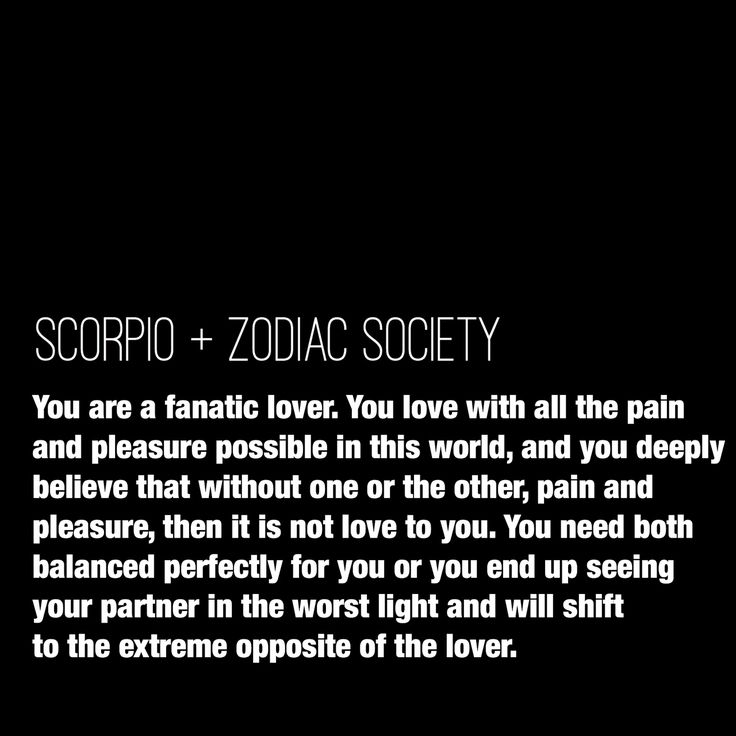 scorpio relationship needs and expectations