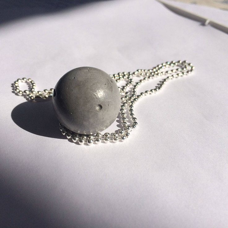 Urban CONCRETE beton jewelry: necklace Gray MOON, minimalistic industrial pendant handmade by Aludana, gift for her, for him Charm necklace by ConcreteByAludana on Etsy