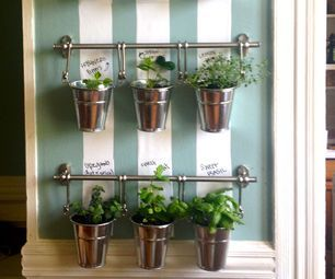 #Instructables    Hanging Indoor Herb Garden