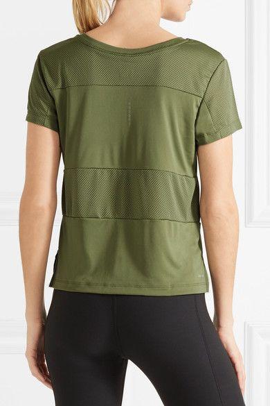 Nike - Paneled Dri-fit Stretch-jersey T-shirt - Army green -