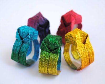 Craft: Origami Paper Ring