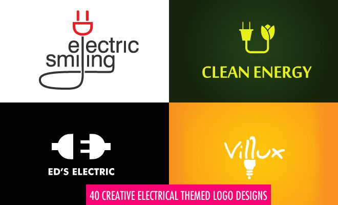 40 Creative Electrical Themed Logo Design examples for your inspiration. Follow us www.pinterest.com/webneel