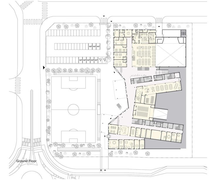 Competition design for a new Elementary School in Baegot city, South Korea #architecture #plan Daniel Valle Architects