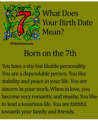 What does your birthdate mean? It actually describes the meaning of me! Find you birthdate at : http://www.wishafriend.com/astrology/birthdatemean/