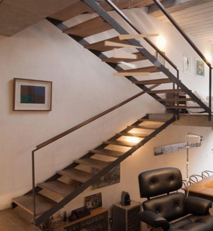 26 best freie treppe und gel nder holz und stahl familie. Black Bedroom Furniture Sets. Home Design Ideas