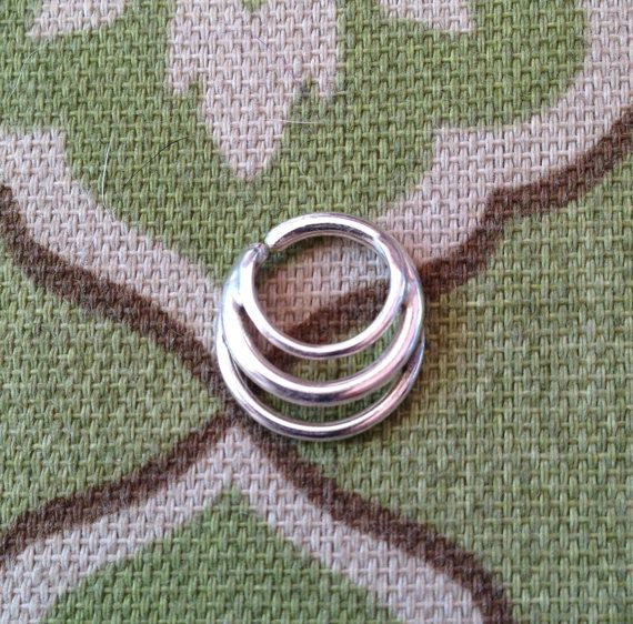 Hey, I found this really awesome Etsy listing at https://www.etsy.com/listing/163491681/3-ring-septum-jewelry-custom-made-to