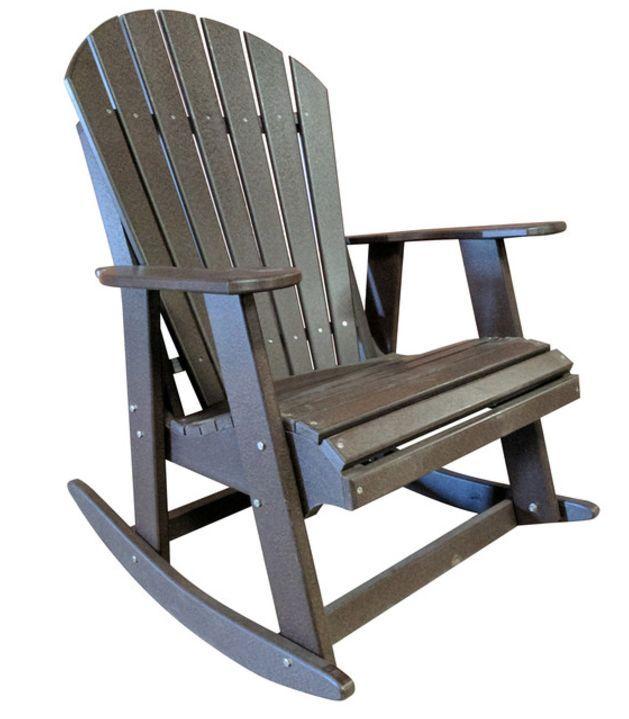 Poly Adirondack Rocking Chair With Images Adirondack Rocking