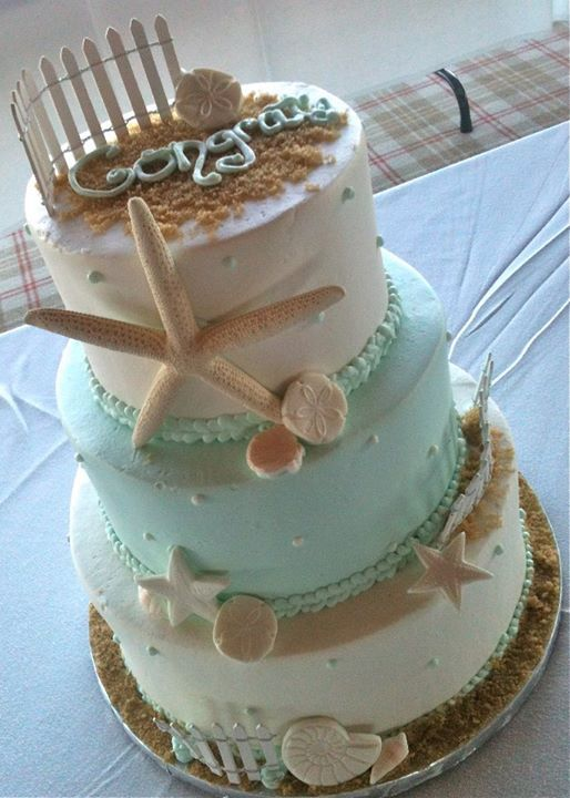 393 best CAKES BEACH images on Pinterest Anniversary cakes Cake
