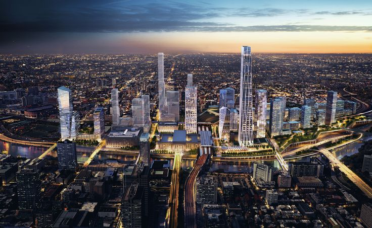 Image 1 of 11 from gallery of SOM Reveals Plans for New Urban District Around Philadelphia's 30th Street Station. Photograph by SOM