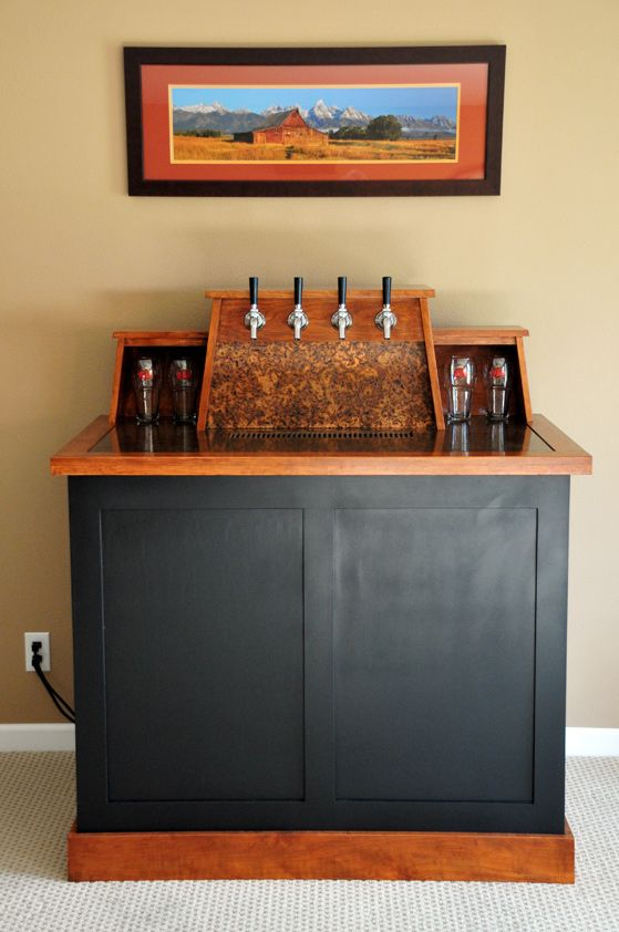 1000 images about home bar ideas on pinterest bar for Home bar with kegerator space