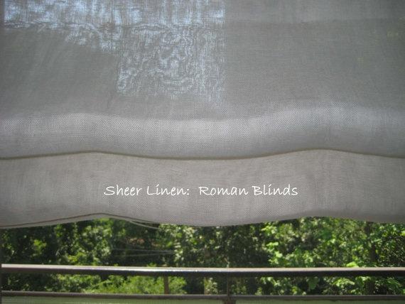 custom roman blinds roman shades sheer linen by