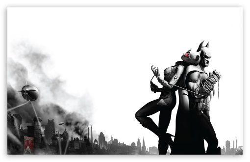 Batman Arkham City Batman & Catwoman HD desktop wallpaper : Widescreen : High Definition : Fullscreen : Mobile