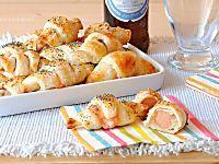 Stuzzichini di pasta sfoglia: mini croissant quattro farciture