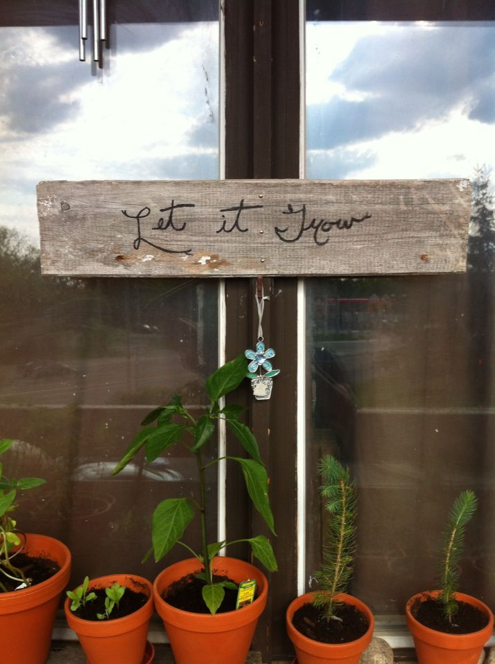 DIY Sign made from old barn wood
