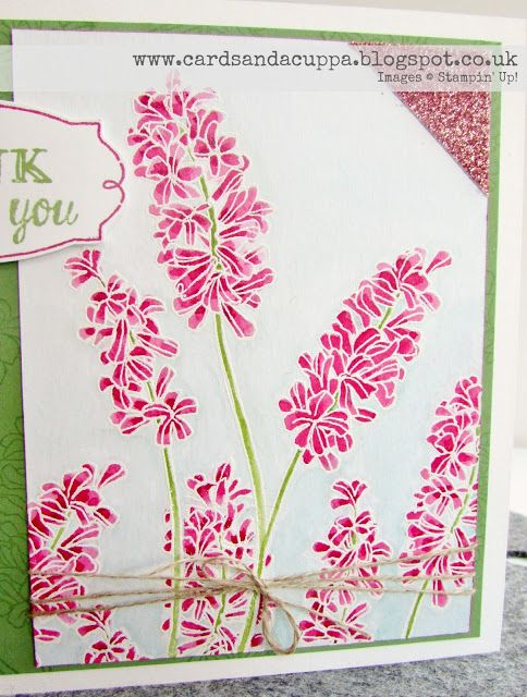 "Sarah-Jane Rae cardsandacuppa: Stampin' Up! UK Order Online 24/7: Watercolored ""Helping Me Grow"" stamps byStampin' Up! in Rose Red and Wild Wasabi"
