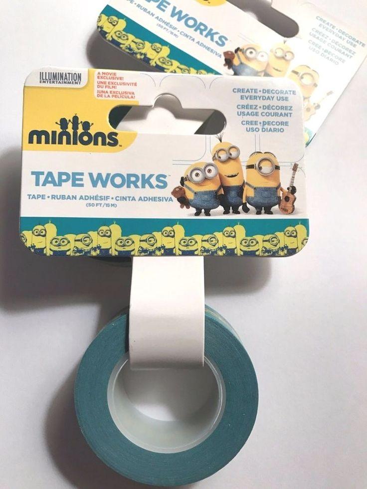 """Minions Decorative Tape .625"""" x 50' Roll Tape Works, 15 M #TapeWorks"""