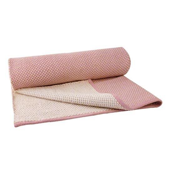 """Teppichläufer """"Punkte"""" (Rosa/Weiß)"""