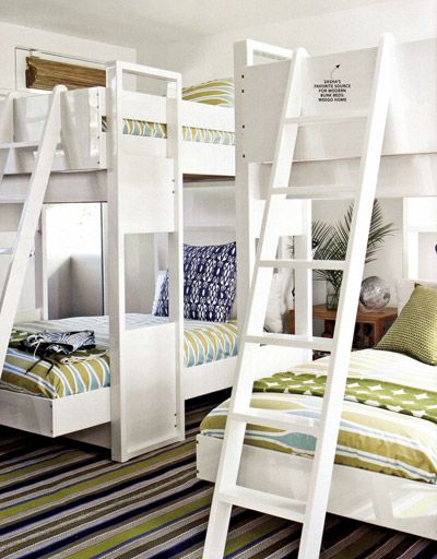 white bunks: Cool Bunk Beds, Dreams Vacations, Bunkbed, Bunk Rooms, Coastal Living, Cottages Rooms, Beaches Houses, Beaches Cottages, Kids Rooms