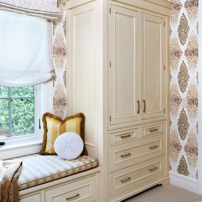 19 best cabinet storage and window seat wall images on for Bedroom designs with window seat