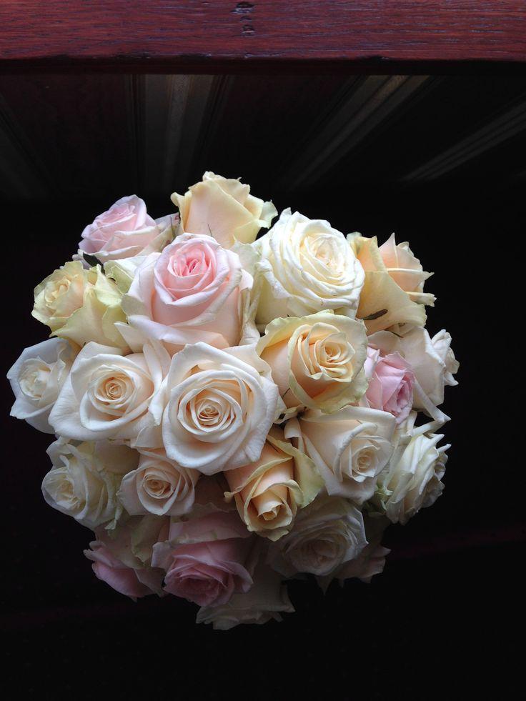 pasztell rózsacsokor