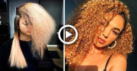 10 Amazing Curly to Straight Hair Transformation Tutorials Compilations – #Amazi…