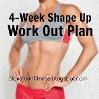 4-Week Shape Up Work Out Plan  beginner CrossFit workout, CrossFit, CrossFit workout exercises, CrossFit workouts, Exercise routine, exercises, fitness, fitness workout, workout plan, workout program, workout routine