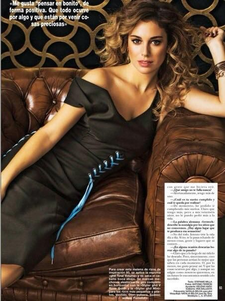 Blanca Suárez for @ghdspain with wavy curls