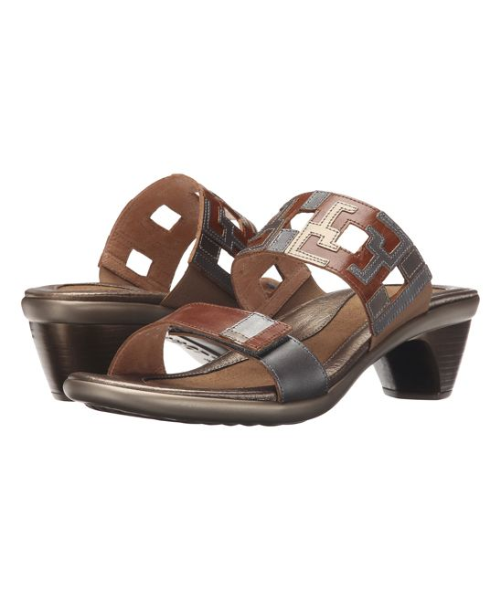 Maple Brown & Mirror Chic Leather Sandal