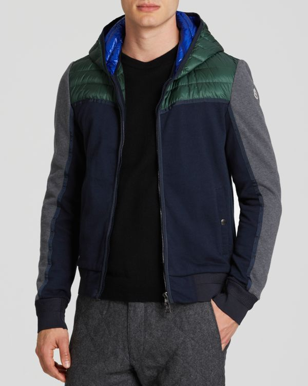 Moncler Cardigan Color Block Hooded Jacket #moncler #jacket