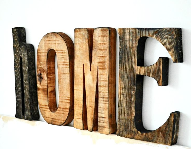 Napis HOME w Littlewood na DaWanda.com