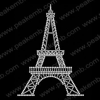 Eiffel Tower Iron On Rhinestone Patterns-Rhinestone Transfers Wholesale︱Custom Rhinestone Transfers︱Rhinestone Transfers Supplier–PEAKEMB