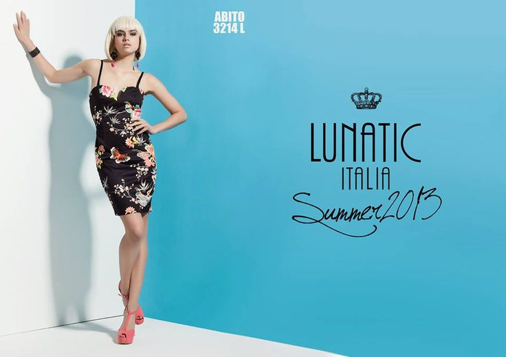 LUNATIC SUMMER COLLECTION 2013 FASHION WOMAN MADE IN ITALY print flower dress