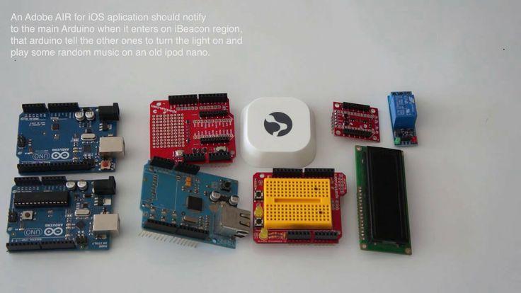Using Adobe AIR software to program control + OSC + ARDUINO + iBeacons ANE + kontakt io beacons / Demo on Vimeo