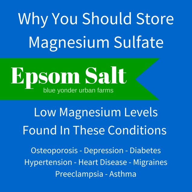 Why You Should Store Magnesium Sulfate | Blue Yonder Urban Farms | Karen Coghlan…