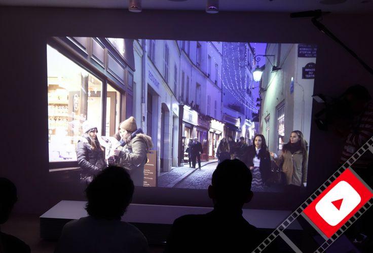 "Raw Video: Sony's 147"" Short-Throw 4K Projector"