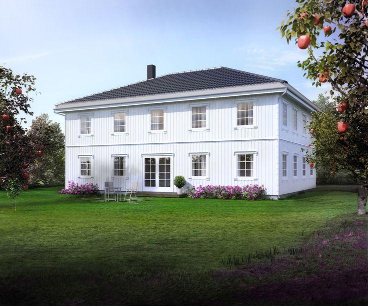 Illustrasjon Odel, bakside. Kataloghus fra Norgeshus.