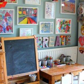 Toon de kunstwerken van je kinderen: aan de muur // Kids Art Display: on the wall (The Imagination Tree)