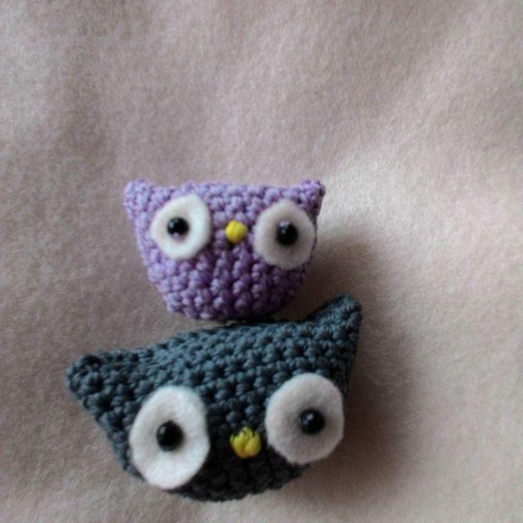 Amigurumi owl.  Boneka rajutan imut ini cuma 10k loh kamu bisa request warna n ukuran. Cocok banget buat key chain  Yang mau po contact ada di bio #explorelampung  #amigurumi  #owlgurumi by vander.id