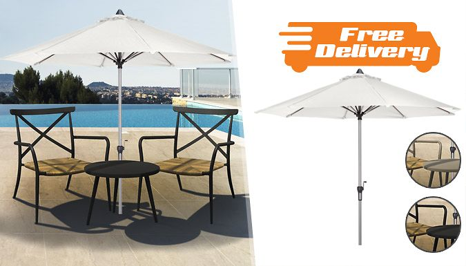 Buy Garden Parasol or Rattan Dining Set - Free Delivery! UK deal for just: £79.99 Redecorate your garden with the Garden Parasol or Rattan Dining Set      Choose the crank parasol or the chic rattan dining set      Parasol features a push button connector and aluminum crank design      Dining set is available in black or light taupe colours      Create a relaxing area in any outdoor area.    ...