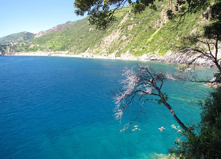 A paradise on earth! Blue Mediterranean sea. Hiking #CinqueTerre #beautifuliguria www.beautifuliguria.com