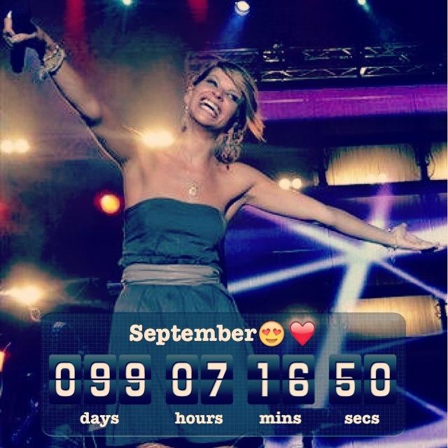Ed ora solo due cifre -99❤ Settembre aspettiamo solo te!☺ @Alessandra Amoroso
