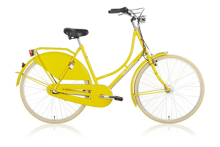 ORTLER Cityrad »Van Dyck sunny yellow« in 55 cm. I would like a bicycle just like this one, in pink please. :)